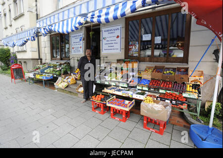 Germany, Bavaria, to feet, city centre, fruiterer and greengrocer, - Stock Photo