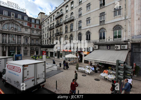 Portugal, Lisbon, city centre, everyday life, street, passer-by, - Stock Photo