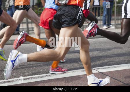 England, London, London marathon, marathon runner, town, marathon, sport, run, feet, bones, group, runner, participant, - Stock Photo