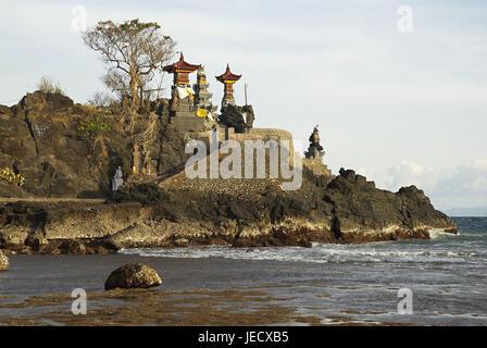 Asia, Indonesia, Lombok, Hindu's temple Pura Batu Bolong, - Stock Photo