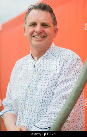 Steve Williams, science writer for children,   at the 2017 Hay Festival of Literature and the Arts, Hay on Wye, - Stock Photo