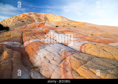 Yellow Rock Grand Staircase-Escalante National Monument sunset - on Cottonwood Canyon Road between Cannonville Utah - Stock Photo