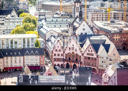 Frankfurt old city square - Stock Photo