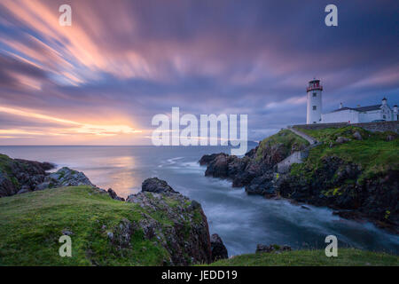Donegal, Ireland. 24th June, 2017. Sunrise over Fanad Head Lighthouse Donegal Ireland Credit: John Potter/Alamy - Stock Photo