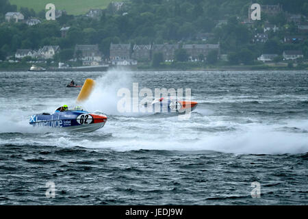 Greenock, Inverclyde, Glasgow, UK. 24th June, 2017. P1 Scottish Grand Prix of the Sea, 82 - David and Ashley Finlayson - Stock Photo