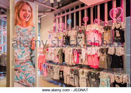 NETHERLANDS - THE HAGUE - JUNE 23, 2017: Store from the Primark chain in the center of The Hague, Netherlands with - Stock Photo