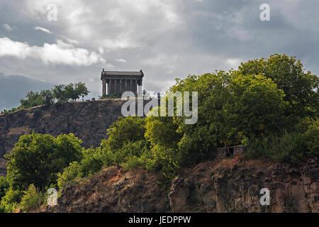 Garni Temple in Garni, Armenia. - Stock Photo