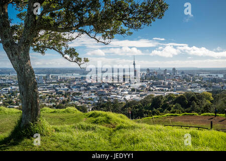 New Zealand, North Island, Mount Eden, Auckland, cityscape - Stock Photo