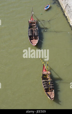 Portugal, postage, traditional ships, 'Barco of Rabelo', - Stock Photo