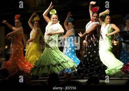 Spain, Andalusia, Granada, flamenco, dancers, - Stock Photo