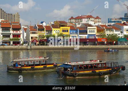 Singapore, tourist boots on a flux, - Stock Photo