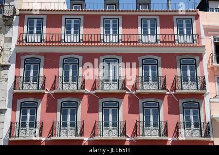 Portugal, Lisbon, Old Town, Alfama, real estate, house facade, - Stock Photo