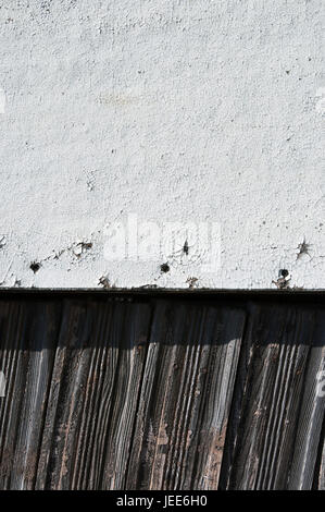 More poorly, wooden wall, old, weather-beaten, medium close-up, detail, - Stock Photo