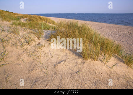 Beach, Utersum, island Föhr, the North Sea, North Sea island, North Sea coast, north frieze country, the North Frisians, - Stock Photo