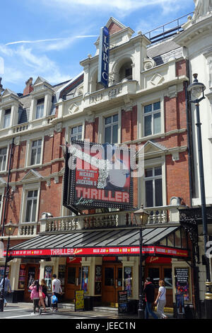 A front view of The Lyric Theatre in Shaftesbury Avenue in London UK - Stock Photo