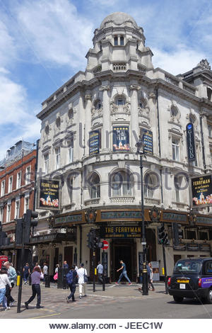 A front view of The Gielgud Theatre in Shaftesbury Avenue in London UK - Stock Photo