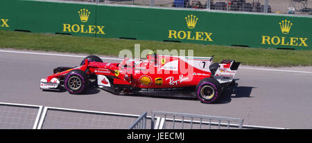 Formula 1 racing at Circuit Gilles Villeneuve in Montreal, Canada - Stock Photo