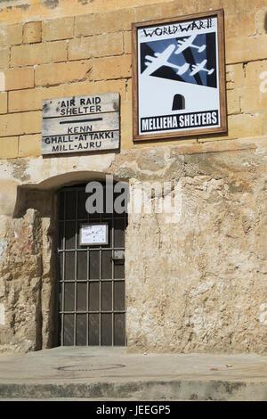 Second world war 1940s air raid shelters, Mellieha, Malta - Stock Photo