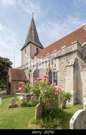 Holy Trinity Church in The attractive coastal village of Bosham, West Sussex, England, UK - Stock Photo