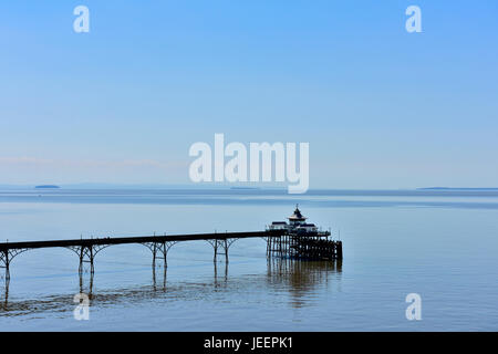 Clevedon pier, North Somerset, England - Stock Photo