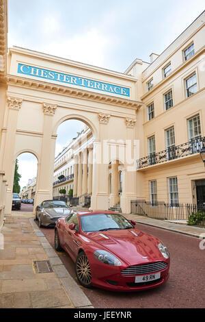 Chester Terrace, Regent's Park, London, UK - Stock Photo