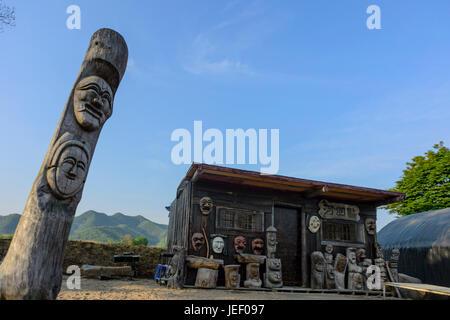 Hahoe village in South Korea - Stock Photo