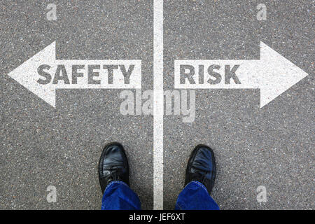 Risk and safety management assessment analysis company business concept businessman reward - Stock Photo