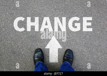 Change changing work job your life changes business concept vision - Stock Photo