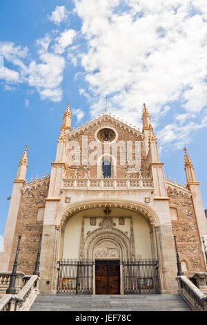 San Jeronimo el Real (St. Jerome Royal Church) in Madrid, Spain - Stock Photo