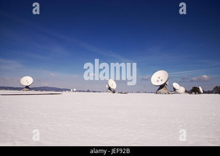 The earth station Raisting is an earth station for the communication with communications satellites. , Die Erdfunkstelle - Stock Photo