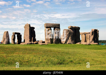 Stonehenge, Wiltshire, Great Britain, Grossbritannien - Stock Photo