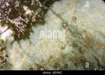 Detail of Jadeite mineral from Tibet - Stock Photo