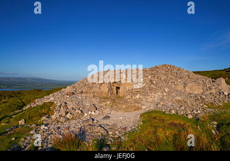 Carrowkeel is a 5000+ year old Neolithic passage tomb cemetery  above Lough Arrow in the Bricklieve Mountains in - Stock Photo
