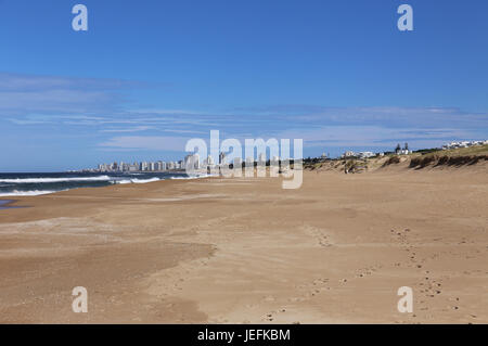 Beach in Front of Punta del Este, Uruguay April 2017 - Stock Photo