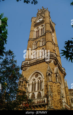 Rajabai Clock Tower, Heritage building, University of Mumbai campus, Mumbai, Maharashtra, India, Southeast Asia. - Stock Photo