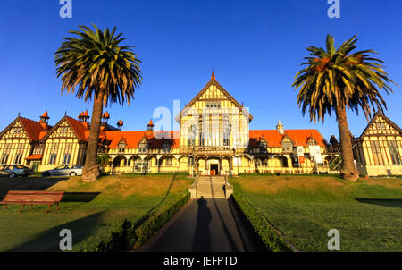 Rotorua Government Gardens and Museum in New Zealand North Island - Stock Photo