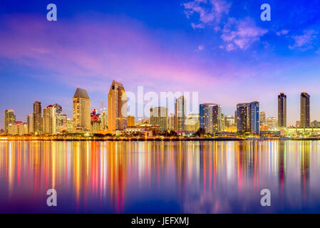 San Diego, California, USA downtown city skyline. - Stock Photo