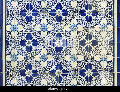 Traditional Portuguese azulejos tiles - Stock Photo