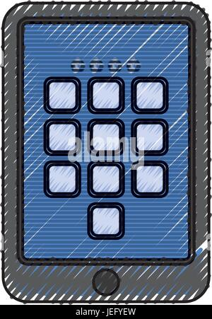 digital security tablet - Stock Photo