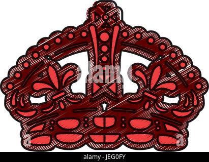 Queen Crown Symbol Stock Vector Art Illustration Vector Image