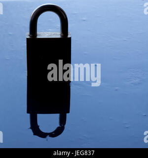 padlock silhouette - security concept. - Stock Photo