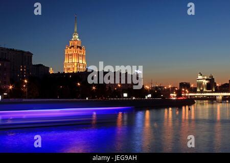 russia moscow view of ukraina hotel and novy arbat street stock rh alamy com