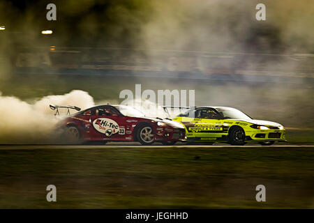 Sydney Motorsport Park, Australia. 24th June 2017.  Battle between Rob Arbolino and Finney O'Hare. Anthony Bolack/Alamy - Stock Photo