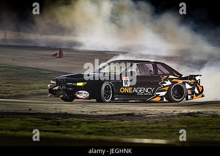 Sydney Motorsport Park, Australia. 24th June 2017.  Qualifying for Josh Kelly in his Nissan 180SX. Anthony Bolack/Alamy - Stock Photo