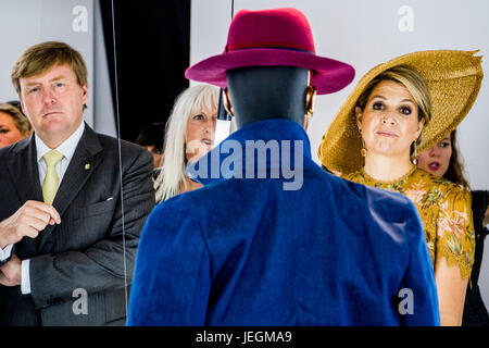 Milan, Italy. 23rd June, 2017. King Willem-Alexander and Queen Máxima of The Netherlands at Design Museum Triennale - Stock Photo