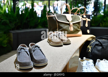 Paris, France. 24th June, 2017. Creations of BIRKENSTOCK for the Spring and Summer 2018 collection are pictured - Stock Photo