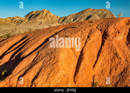 Rock formations, unnamed hills, view from Northshore Road, Mojave Desert, Lake Mead National Recreation Area, Nevada, - Stock Photo