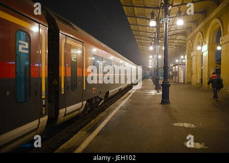 Trains on the staion - Stock Photo