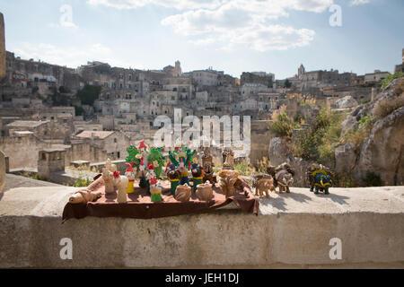 Holiday destination, Matera, Citta' dei sassi, Basilicata, Italy,  World Heritage Site by UNESCO since 1993 - Stock Photo