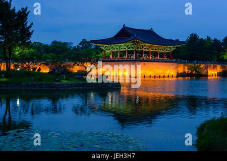 Anapji Pound, Gyengju - Stock Photo